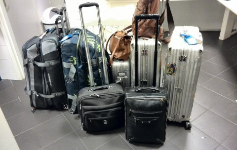Bagagevervoer luggage baggage transfer cycling holiday